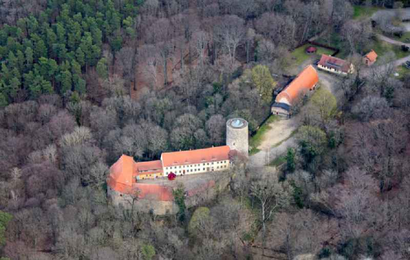 Castle of Schloss in the district Raben in Rabenstein/Flaeming in the state Brandenburg, Germany
