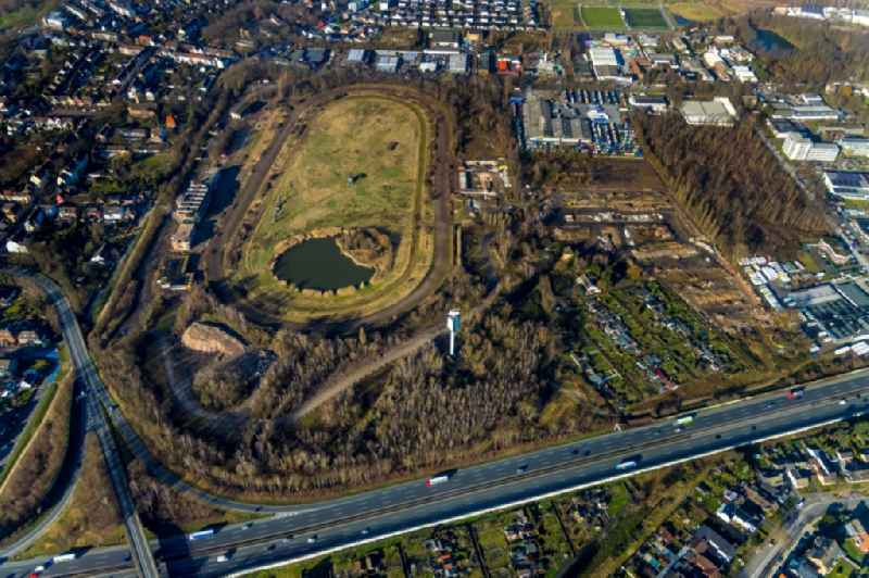 Development, demolition and renovation work on the site of the former racetrack - Trabrennbahn in Recklinghausen in the state North Rhine-Westphalia, Germany