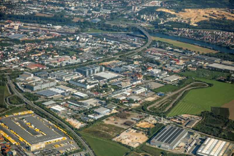 Buildings and production halls on the vehicle construction site of Continental Automotive GmbH on Siemensstrasse in the district Irlmauth in Regensburg in the state Bavaria, Germany