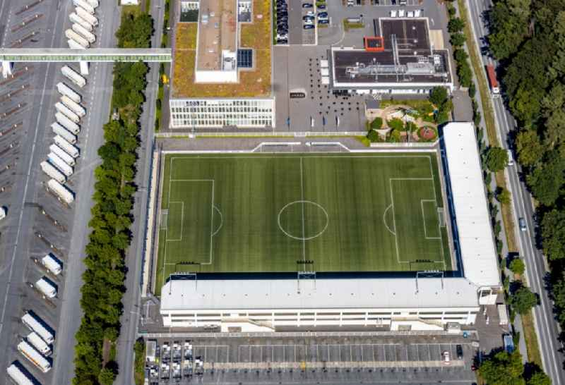 Sports facility grounds of stadium ' Toennies-Arena ' in the district Rheda in Rheda-Wiedenbrueck in the state North Rhine-Westphalia, Germany