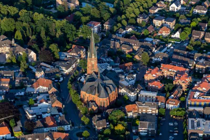Church building of the cathedral St. Gudula Kirche in the old town in Rhede in the state North Rhine-Westphalia, Germany