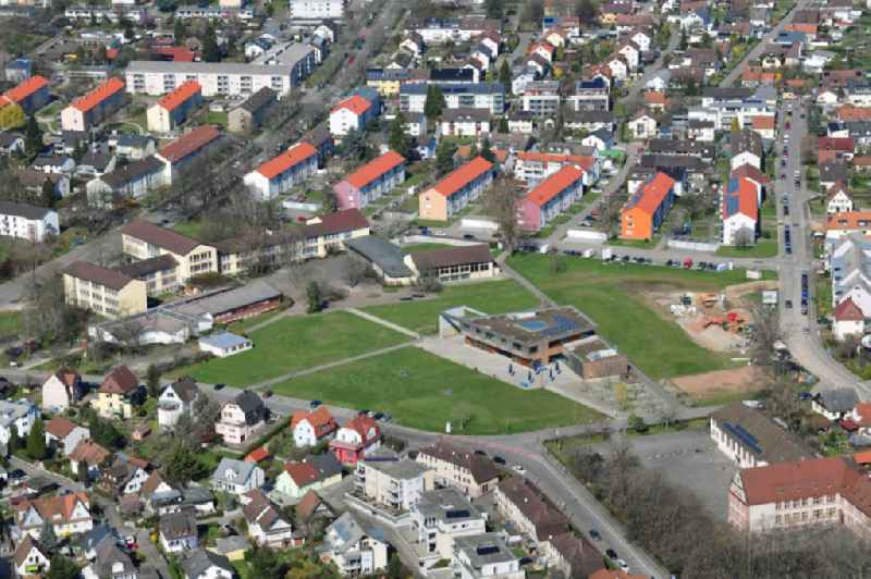 School grounds and buildings of the School campus and canteen in Rheinfelden in the canton Aargau, Switzerland