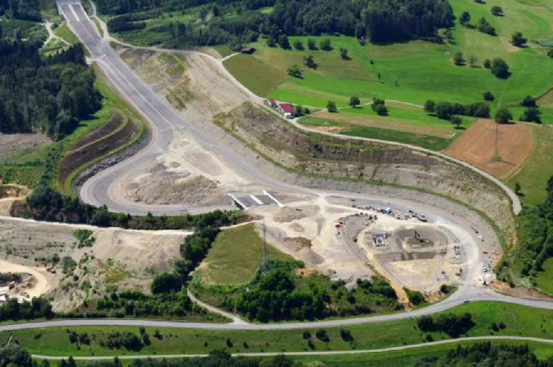 New construction of the motorway route BAB A98 in the district Minseln in Rheinfelden (Baden) in the state Baden-Wuerttemberg, Germany