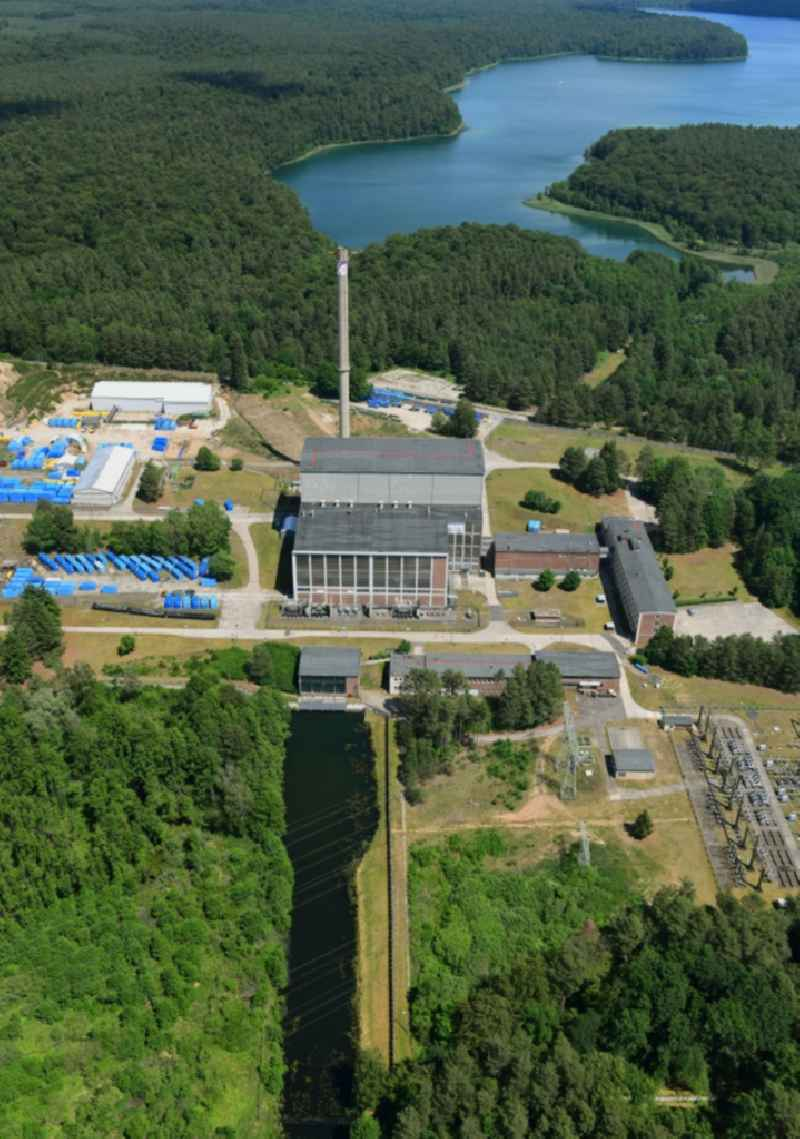 Building the decommissioned reactor units and systems of the NPP - NPP nuclear power plant in Rheinsberg in the state Brandenburg, Germany. Further information at: EWN Entsorgungswerk fuer Nuklearanlagen GmbH.