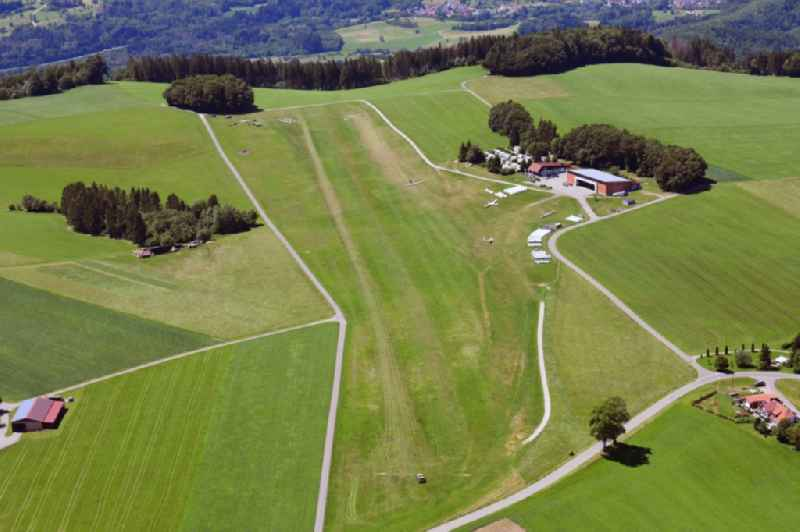 Gliding field on the airfield of Huetten-Hotzenwald on Ruettehof in Rickenbach in the state Baden-Wuerttemberg, Germany
