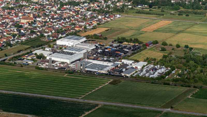 Building and production halls on the premises of  SIMONA AG Ringsheim in Ringsheim in the state Baden-Wurttemberg, Germany