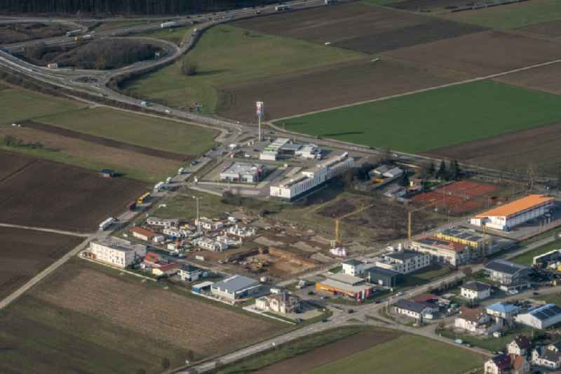 Industrial estate and company settlement Ringsheim West in Ringsheim in the state Baden-Wurttemberg, Germany
