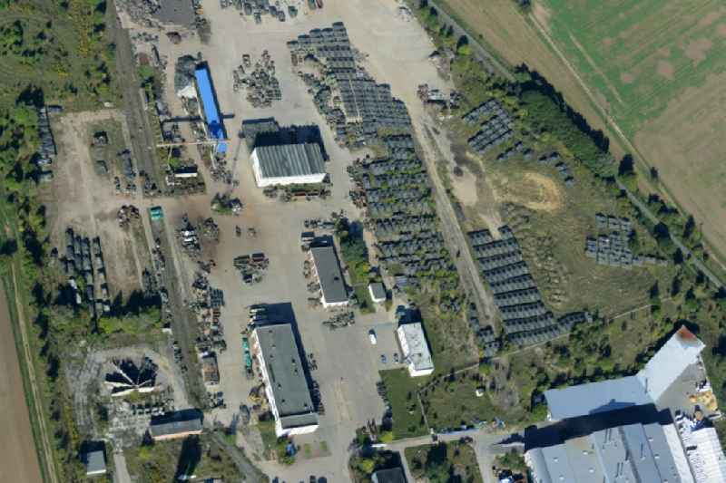 Building and production halls on the premises of Battle Tank Dismantling GmbH Koch (BTD) in Rockensussra in the state Thuringia.