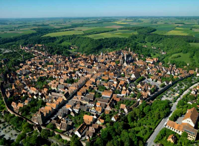 Cityscape of downtown Rothenburg ob der Tauber in Bavaria