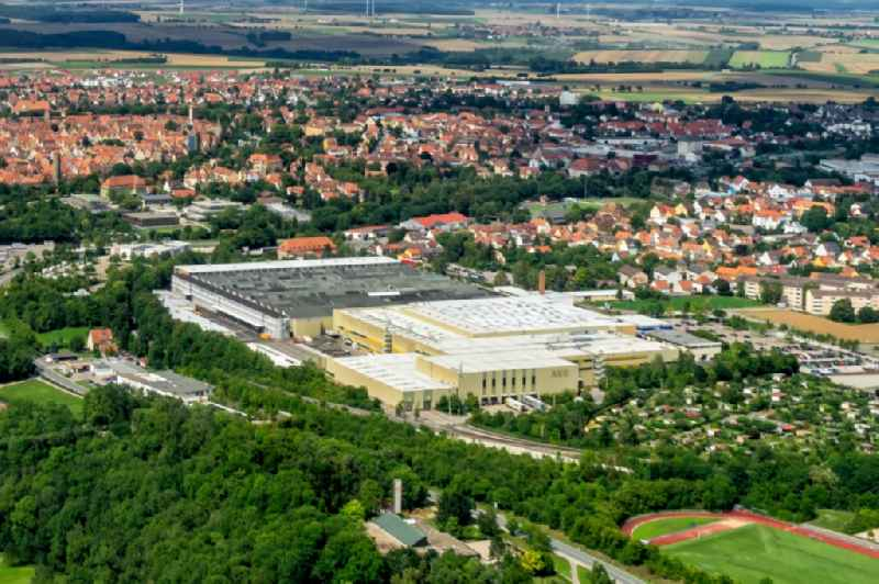 Company grounds and facilities of Electrolux in Rothenburg ob der Tauber in the state Bavaria, Germany
