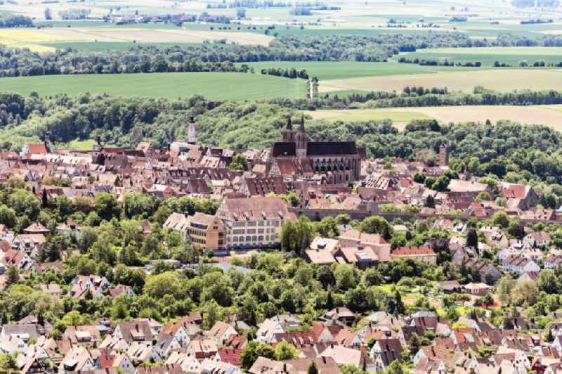 Old Town area and city center in Rothenburg ob der Tauber in the state Bavaria, Germany