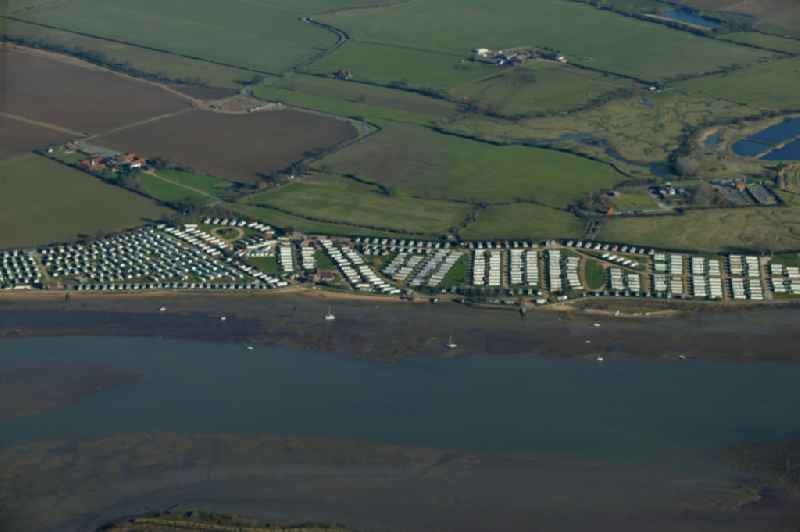 Holiday house settlement on the East coast scenery at Saint Osyth in the United Kingdom England.