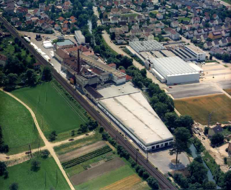 Industrial estate and company settlement on Filsstrasse in Salach in the state Baden-Wuerttemberg, Germany