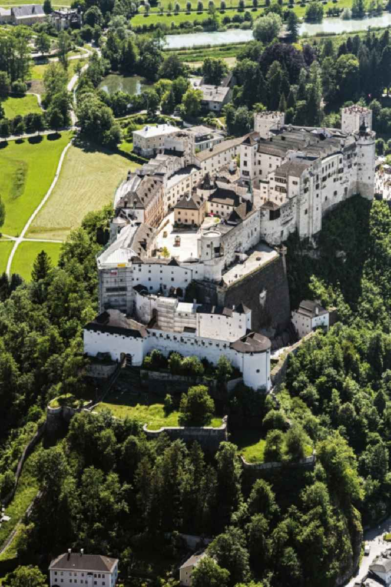 Castle of the fortress Festung Hohensalzburg in Salzburg in Austria