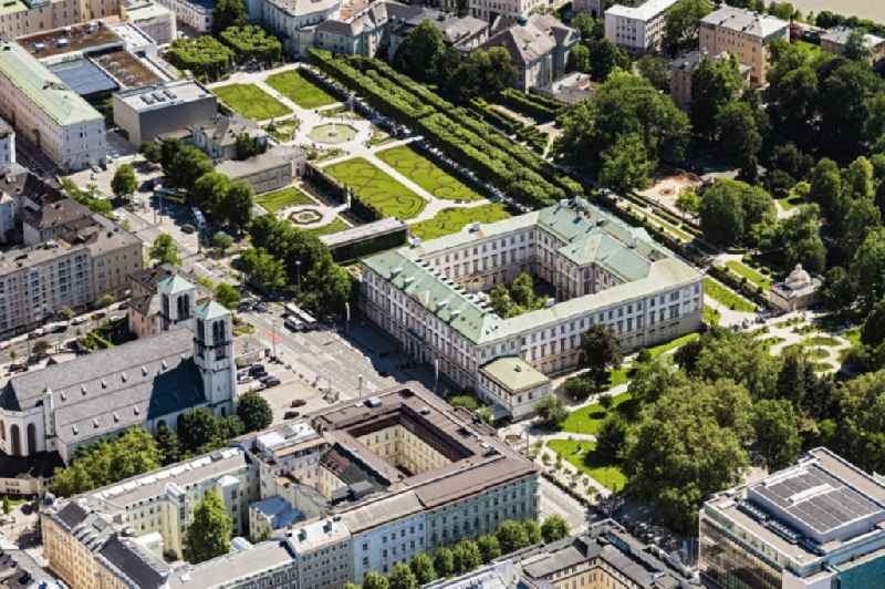 Building complex in the park of the castle Mirabell in Salzburg in Austria