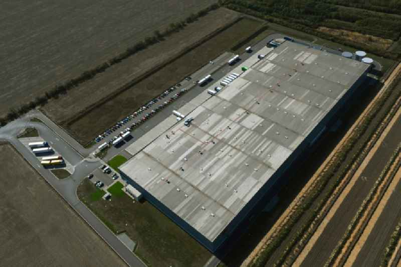 Building complex and distribution center on the site of Rossmann Logistik on Muenchener Strasse in the district Brehna in Sandersdorf-Brehna in the state Saxony-Anhalt, Germany