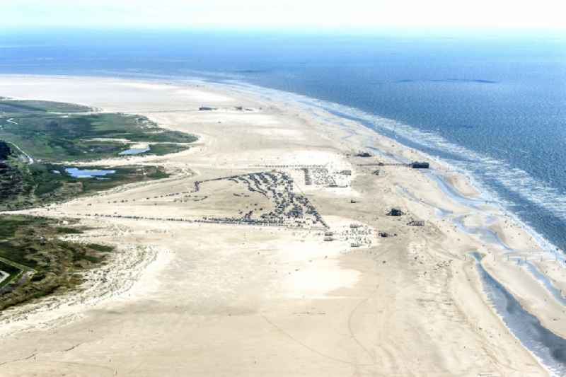 Beach landscape on the North Sea coast in the district Sankt Peter-Ording in Sankt Peter-Ording in the state Schleswig-Holstein.
