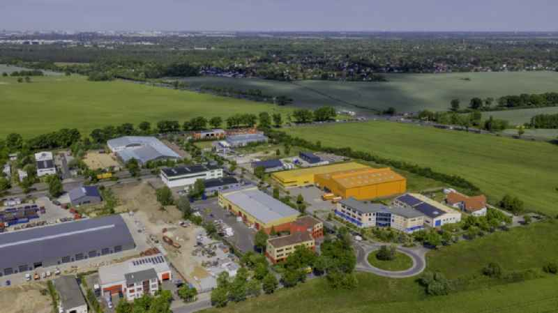 Industrial estate and company settlement North in Schoeneiche in the state Brandenburg, Germany