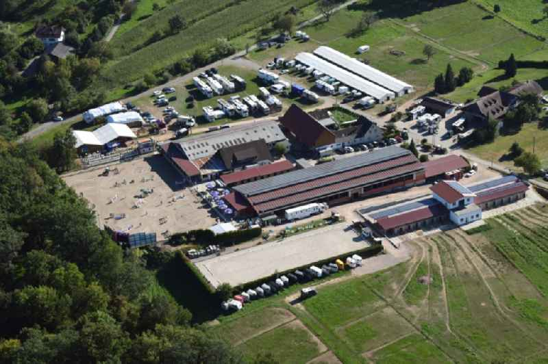 Riding stable Gestuet Sengelen in Schopfheim in the state Baden-Wurttemberg, Germany