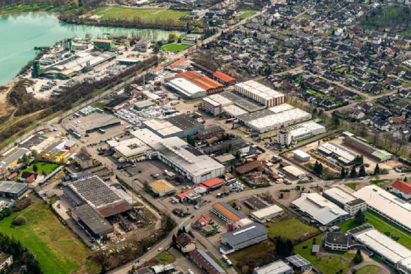 Industrial estate and company settlement in Schutterwald in the state Baden-Wurttemberg, Germany