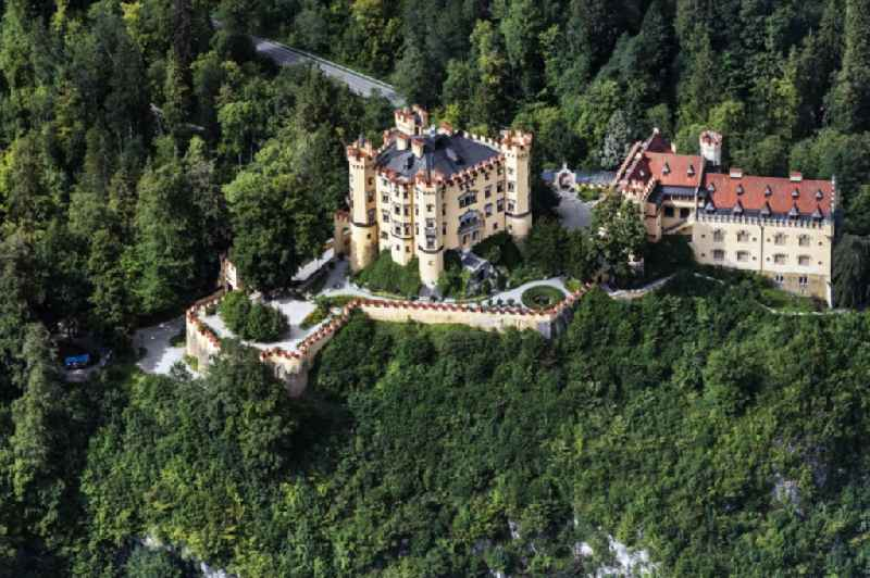 Castle of Hohenschwangau in the state Bavaria, Germany