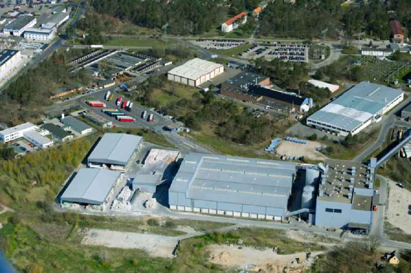 Building complex and distribution center on the site on Kuhheide in the district Vierraden in Schwedt/Oder in the state Brandenburg, Germany