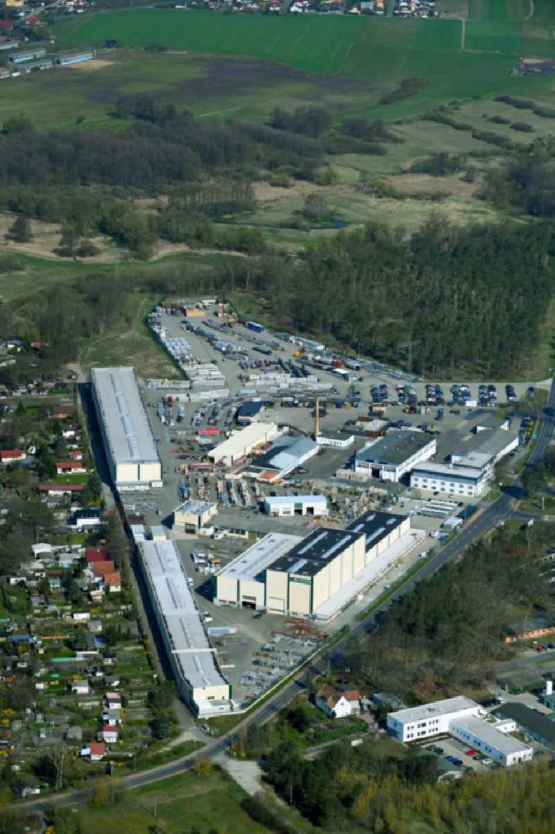 Building and production halls on the premises of BUTTING Anlagenbau GmbH & Co. KG on Kuhheide in the district Vierraden in Schwedt/Oder in the state Brandenburg, Germany