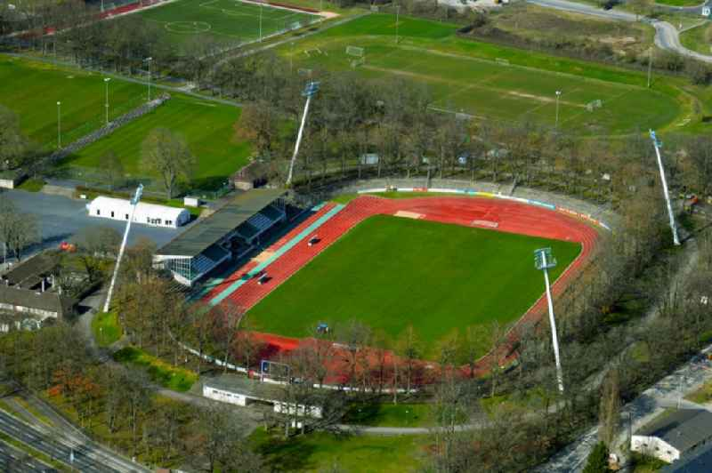 Ensemble of sports grounds ' Willy Sachs Stadion ' in Schweinfurt in the state Bavaria, Germany