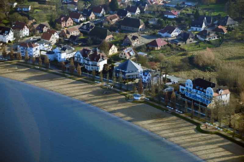 Luxury villa in residential area of single-family settlement Am Strand in the district Zippendorf in Schwerin in the state Mecklenburg - Western Pomerania, Germany
