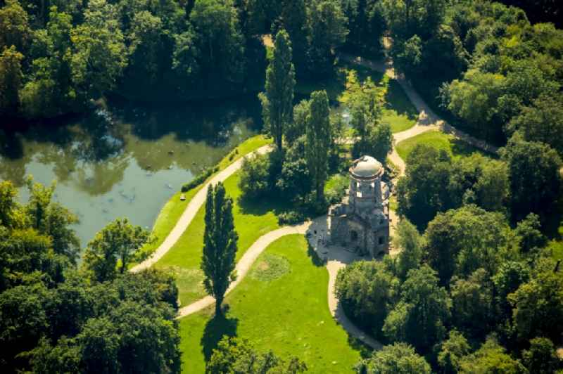 Temple of Mercury in the palace garden of Schwetzingen Castle ketch in the state of Baden-Wuerttemberg.