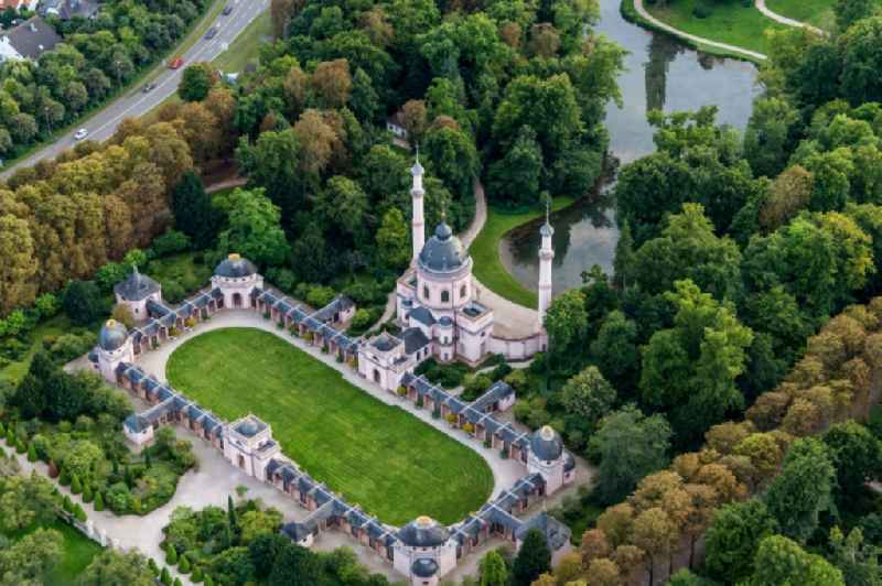 Building of the mosque in the castle park of Schwetzingen in the state Baden-Wurttemberg, Germany.