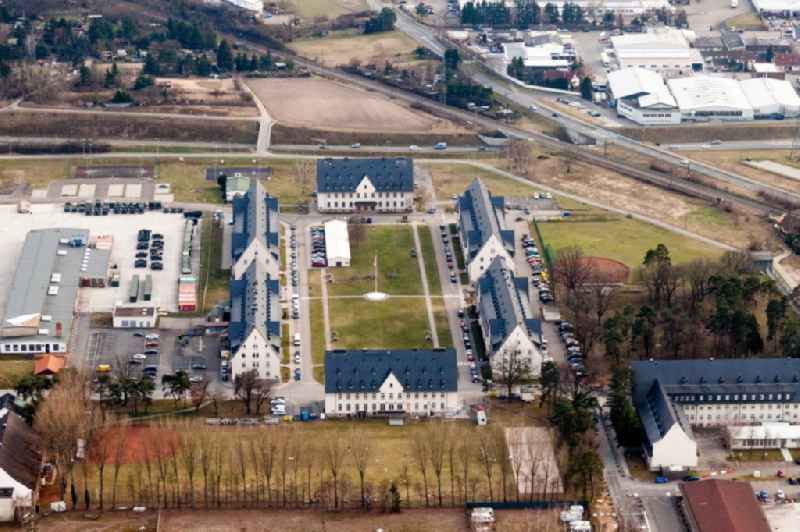 Baracks and military training ground of the US-Army in Schwetzingen in the state Baden-Wurttemberg, Germany.