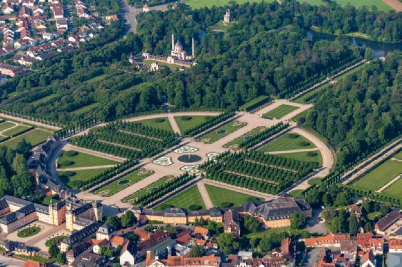 Schwetzingen Castle and the French baroque garden in Schwetzingen in the state of Baden-Wuerttemberg