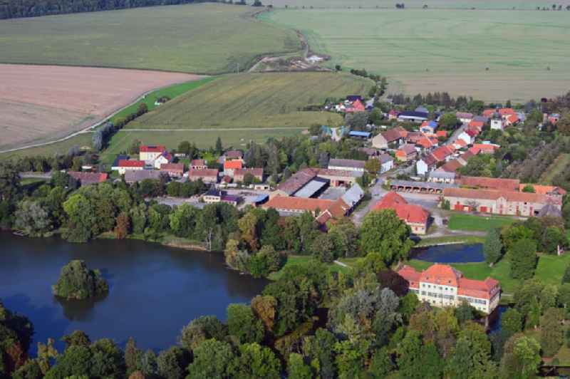 Building complex in the park of the castle in Seggerde in the state Saxony-Anhalt, Germany