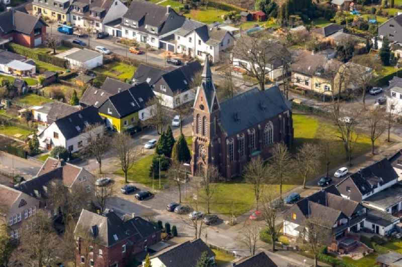 Church building ' St. Theresia von Avila ' on Karl-Forst-Strasse in Selbeck in the state North Rhine-Westphalia, Germany
