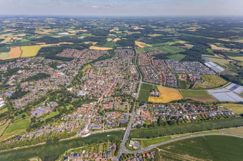 City view on down town in Senden in the state North Rhine-Westphalia, Germany