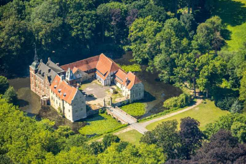 Building and castle park systems of water castle in the district Holtrup in Senden in the state North Rhine-Westphalia, Germany