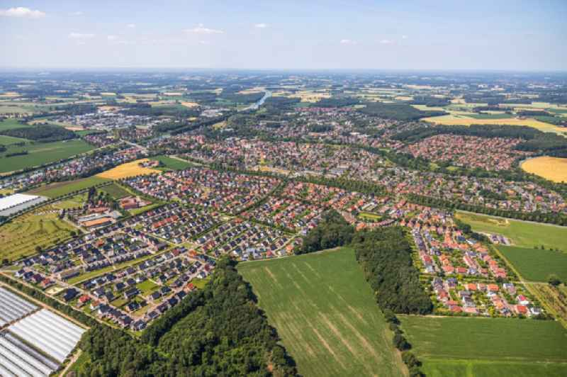 Outskirts residential in Senden in the state North Rhine-Westphalia, Germany