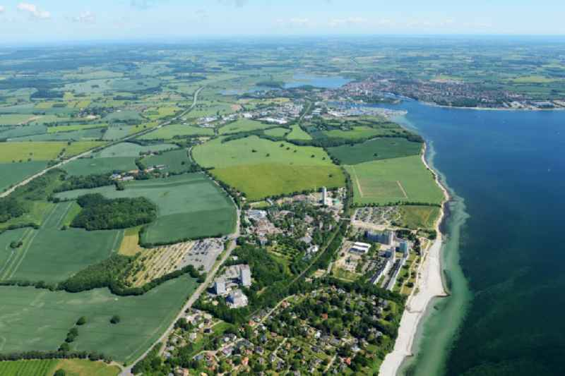 Village on marine coastal area of Baltic Sea in Sierksdorf in the state Schleswig-Holstein