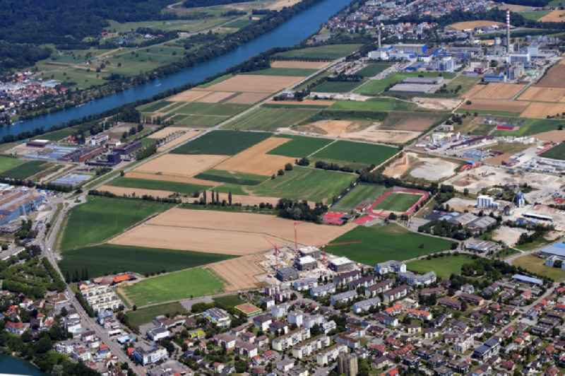Developing field of the commercial area Sisslerfeld for a High-Tech-Center in life-sciences in Sisseln in the canton Aargau, Switzerland.