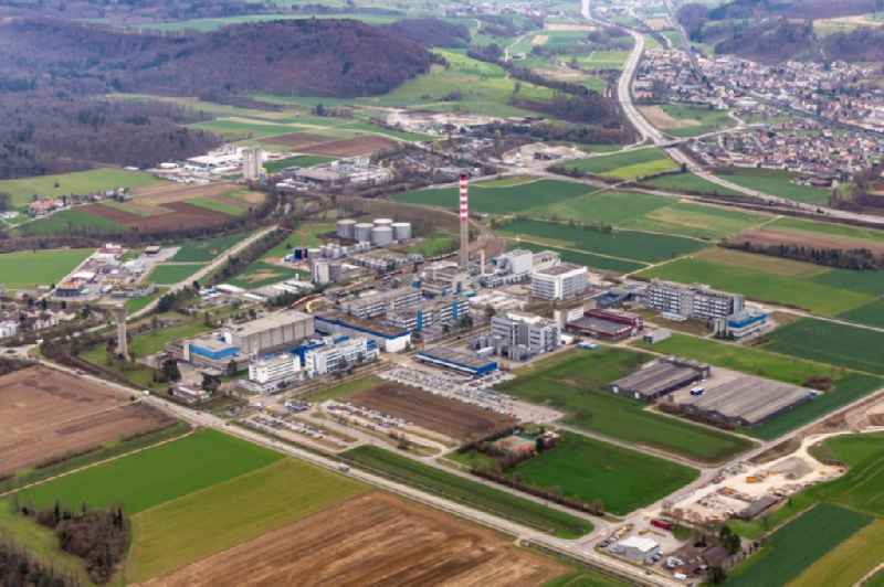 Company grounds and facilities of DSM Nutritional Products AG Zweigniederlassung factory Sisseln in Sisseln in the canton Aargau, Switzerland