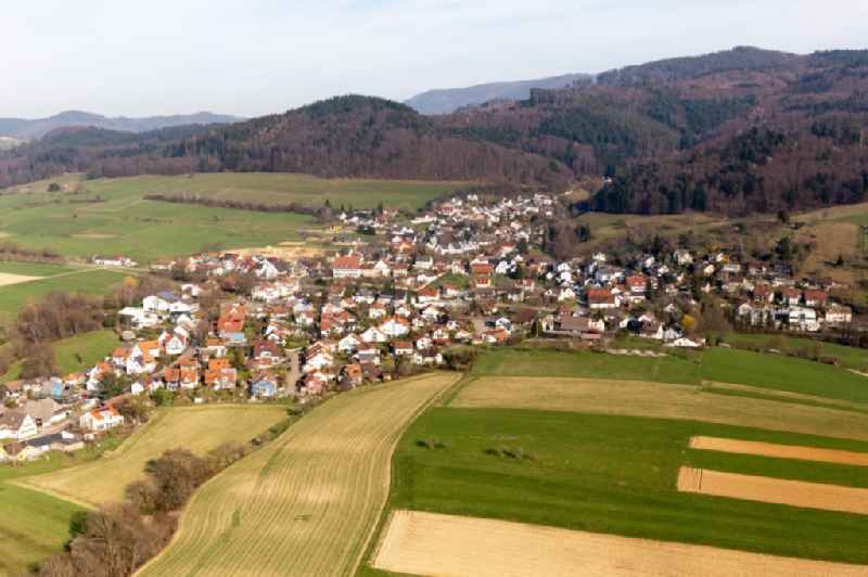 Village - view on the edge of the black-forest in Soelden in the state Baden-Wurttemberg, Germany