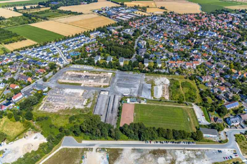 Development area of industrial wasteland with new development area on the former Strabag area on Teinenkonp in Soest in the state North Rhine-Westphalia, Germany