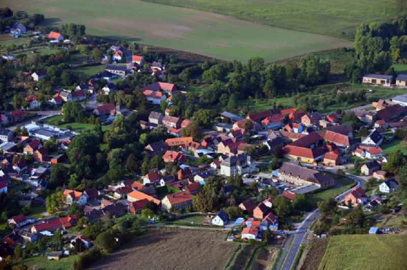 Village view in Sommersdorf in the state Saxony-Anhalt, Germany