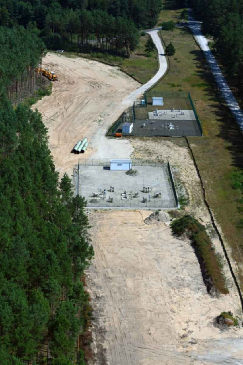 Compressor Stadium and pumping station for natural gas of the new European gas pipeline (Eugal) in Spreenhagen in the state Brandenburg, Germany