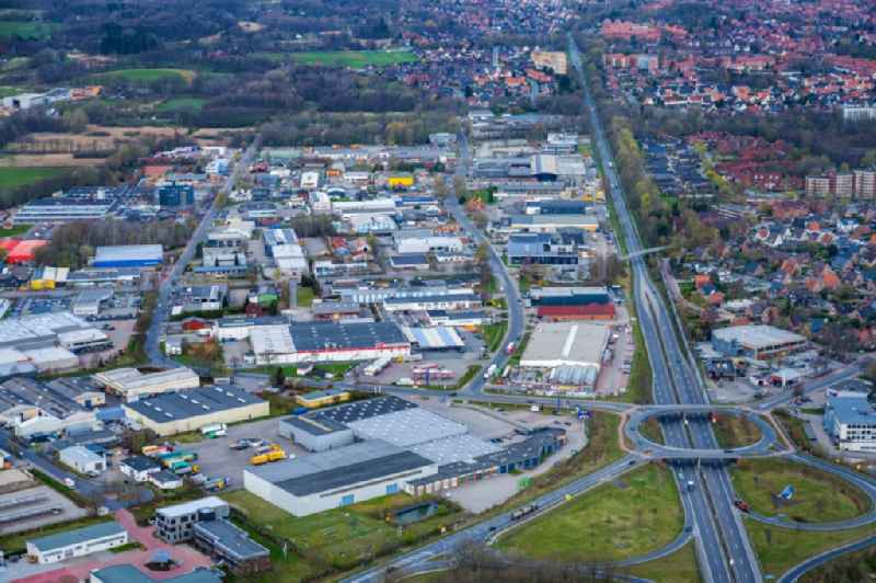 Industrial estate and company settlement Stade Sued in the district Ottenbeck in Stade in the state Lower Saxony, Germany