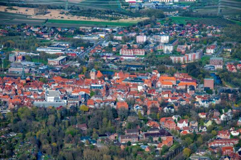 Old town area and inner city center in Stade in the state Lower Saxony, Germany
