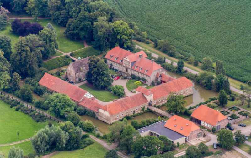 Castle of the fortress with manor house 'Rittergut Remeringhausen' along the Heuersser Strasse in Stadthagen in the state Lower Saxony, Germany