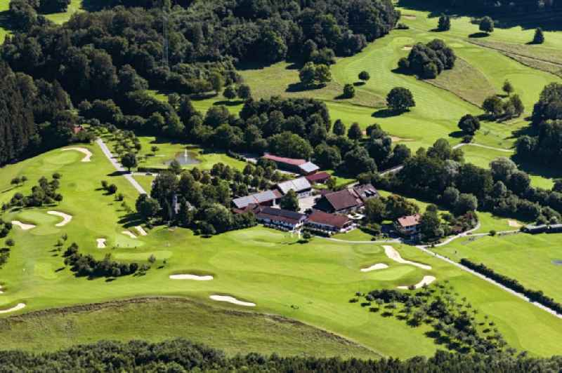 Grounds of the Golf course at Gut Rieden in Starnberg in the state Bavaria, Germany
