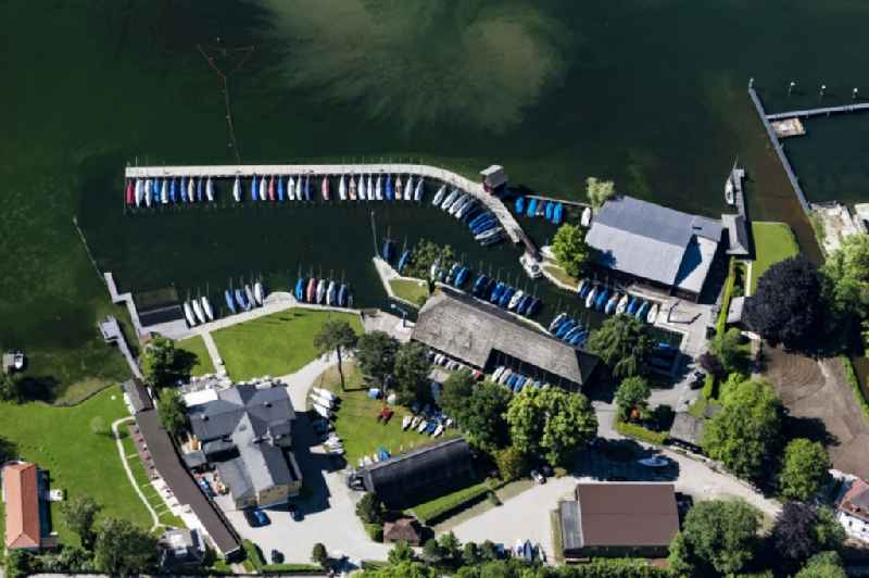 Port, water park and boatyard Rambeck in Starnberg Lake Starnberg in the state Bavaria